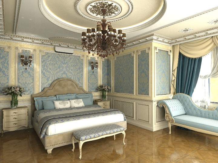Дизайн спальни в дворцовом стиле