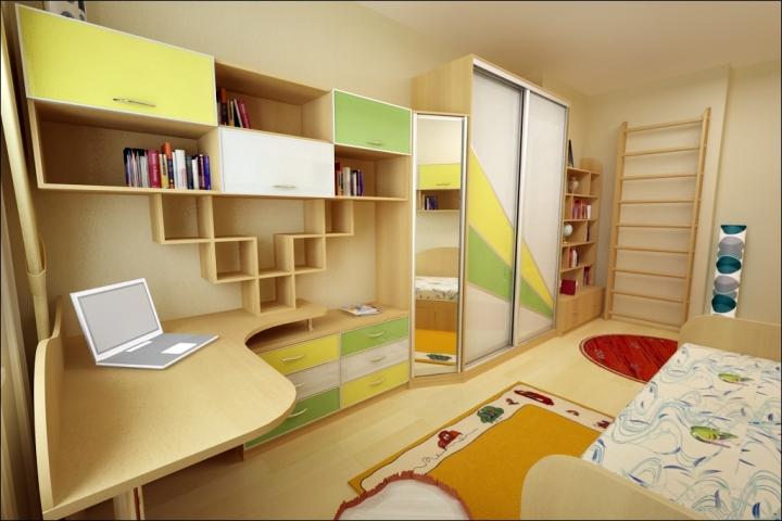 Цвет мебели в детской комнате