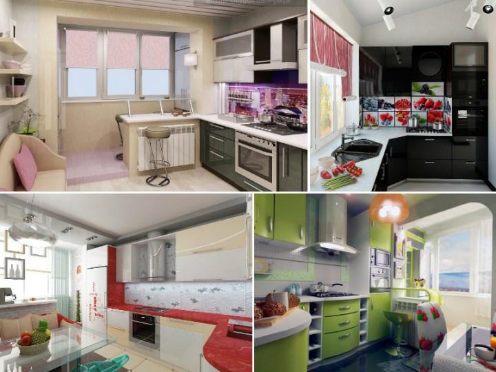 Идеи для кухни с балконом