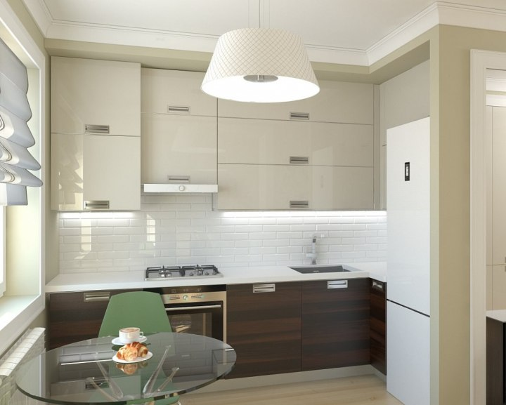 Маленькая кухня в силе минимализм