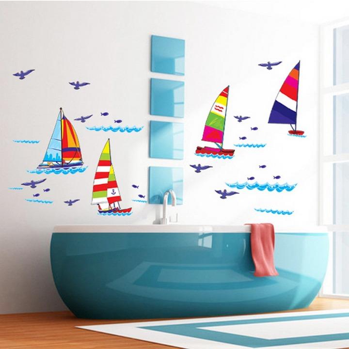 Украшение ванной наклейками