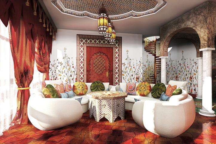Гостиная в арабском стиле