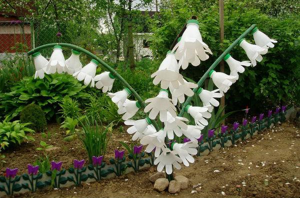 Цветы пластиковые своими руками