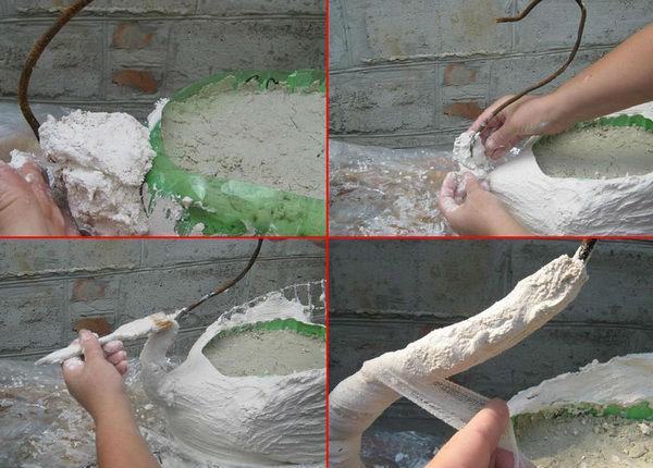 Поделки для сада своими руками лебедь из пластиковой бутылки