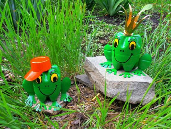 лягушка из пластиковых бутылок своими руками пошаговая инструкция фото - фото 10