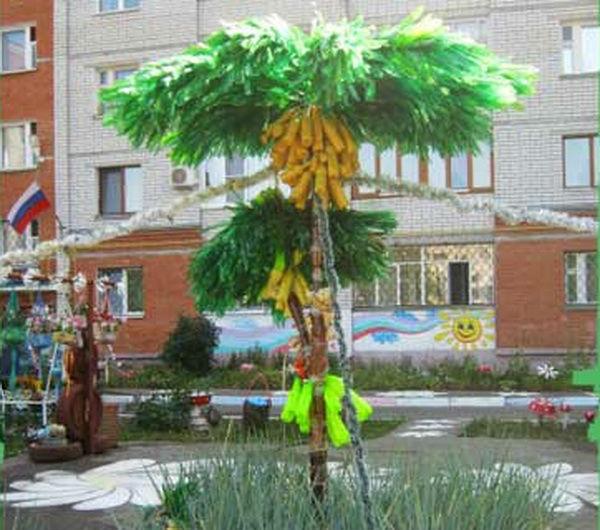 Как сделать пальму из полторашек фото 999