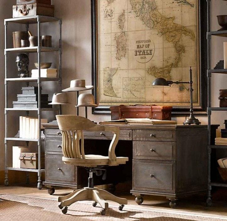 Рабочий кабинет в стиле стимпанк
