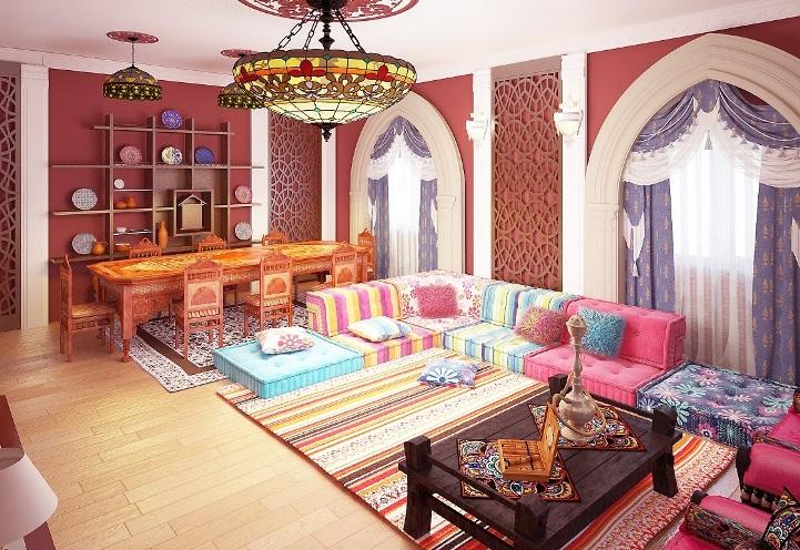 Текстиль в арабском интерьере