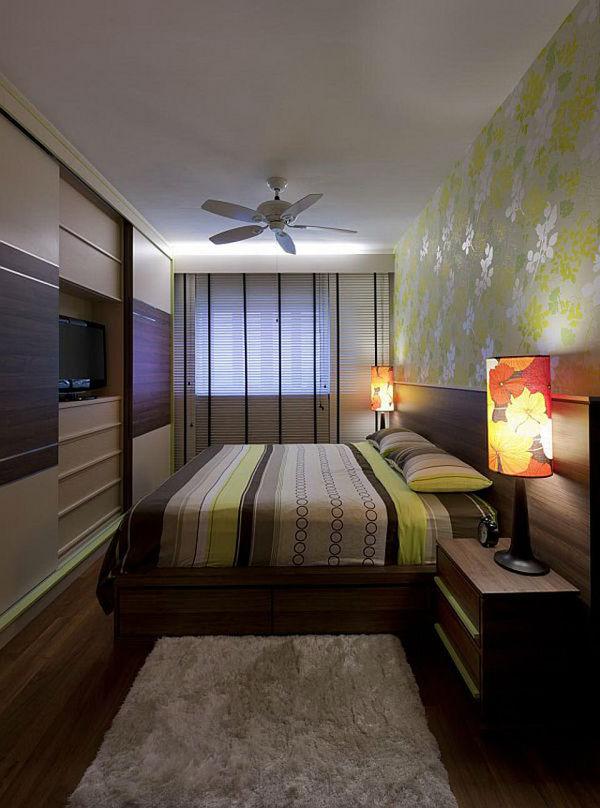 Узкие спальни