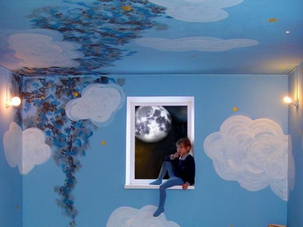 Оформление потолка гостиной: виды и способы