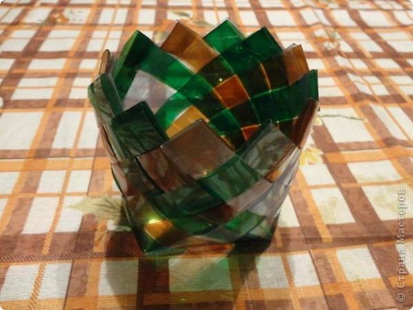 Это – плетение из пластиковых