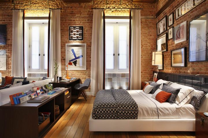 Спальня в стиле семидесятых годов