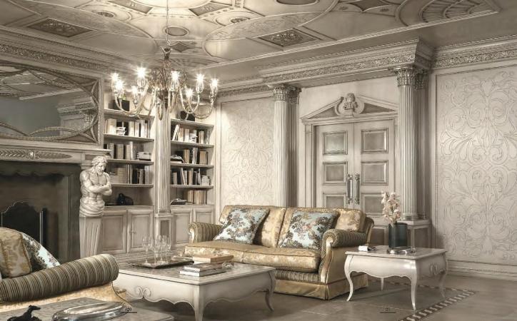 Интерьер в серых тонах в итальянском стиле