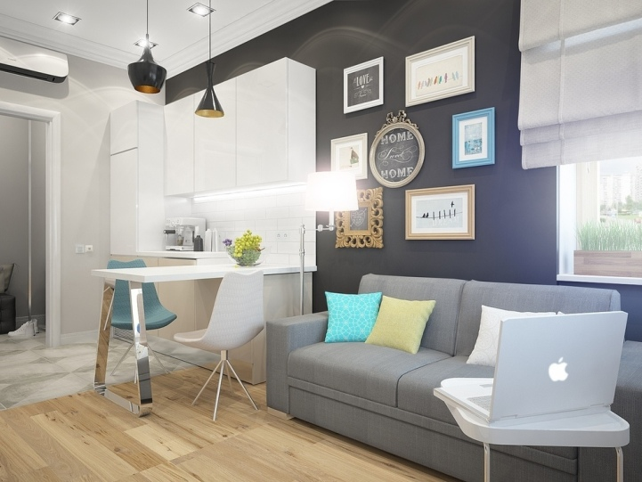 Как сделать светлее маленькую комнату в 55