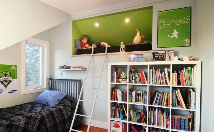 Место для чтения в детской комнате
