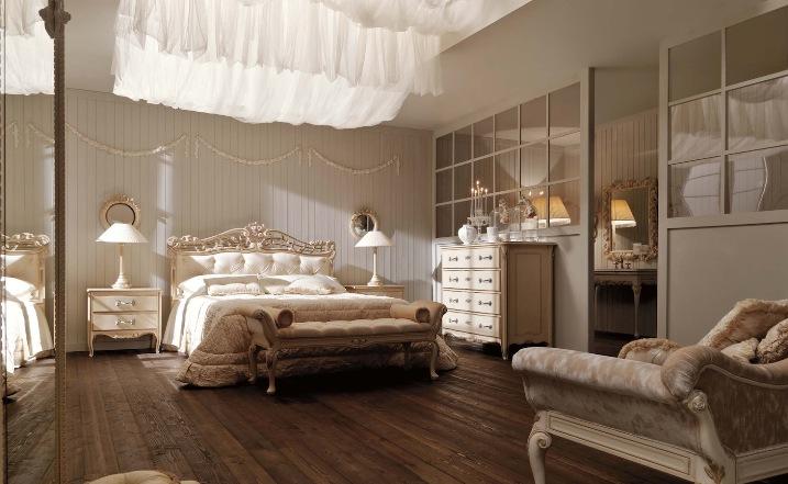 Интерьер спальни в итальянском стиле