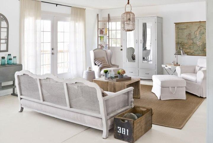 Романтичная гостиная в стиле прованс