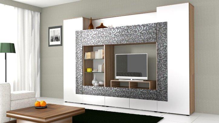 Практичные и современные стенки для гостиных