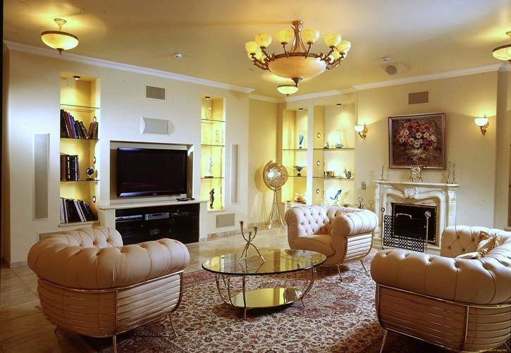 Правильное освещение гостиной