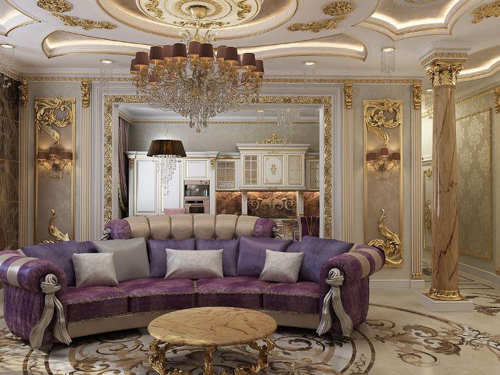 декор гостиной в дворцовом стиле