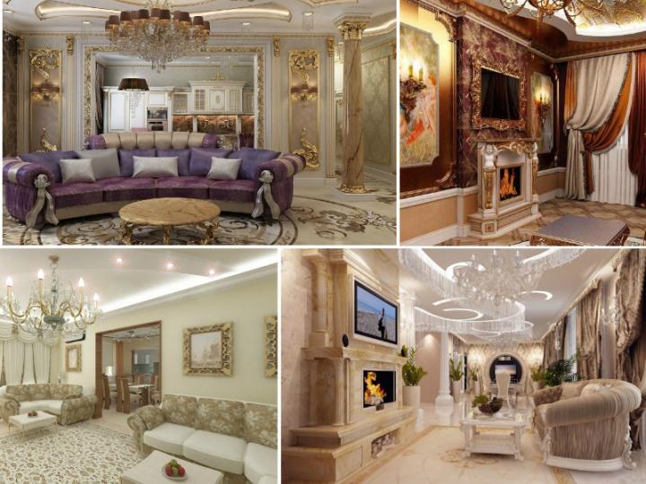 Идеи для гостиной в дворцовом стиле
