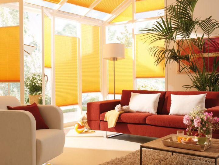 Красно-желтая гостиная