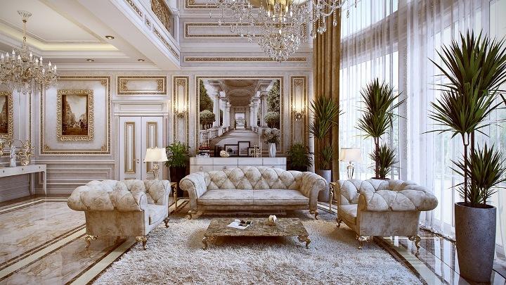 Роскошная мебель в гостиной