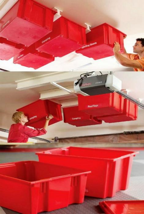 красные пластиковые контейнеры
