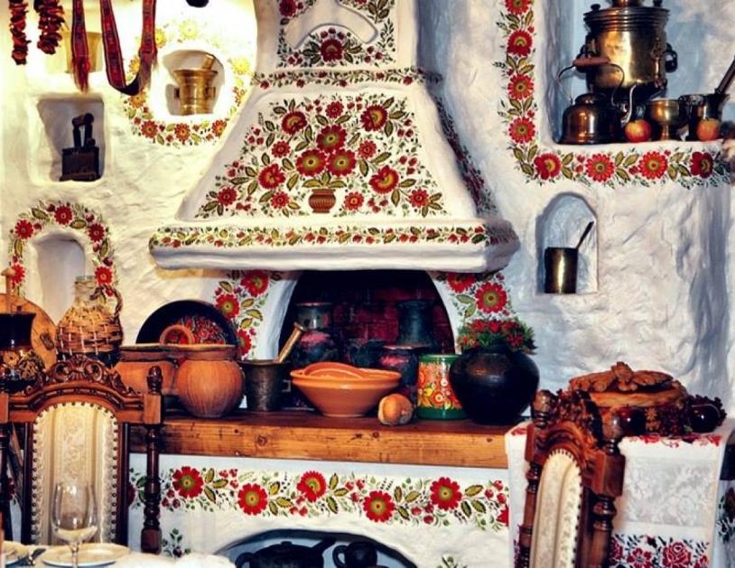 Русская печка в интерьере