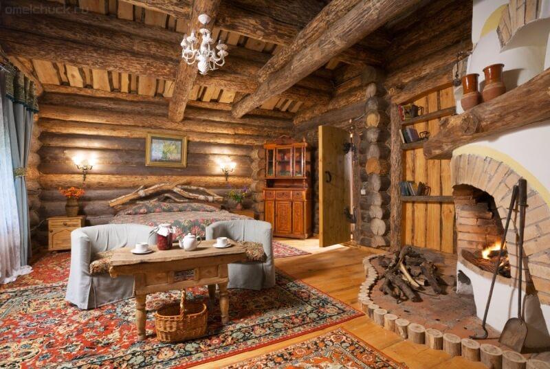 Дизайн дома внутри деревянный