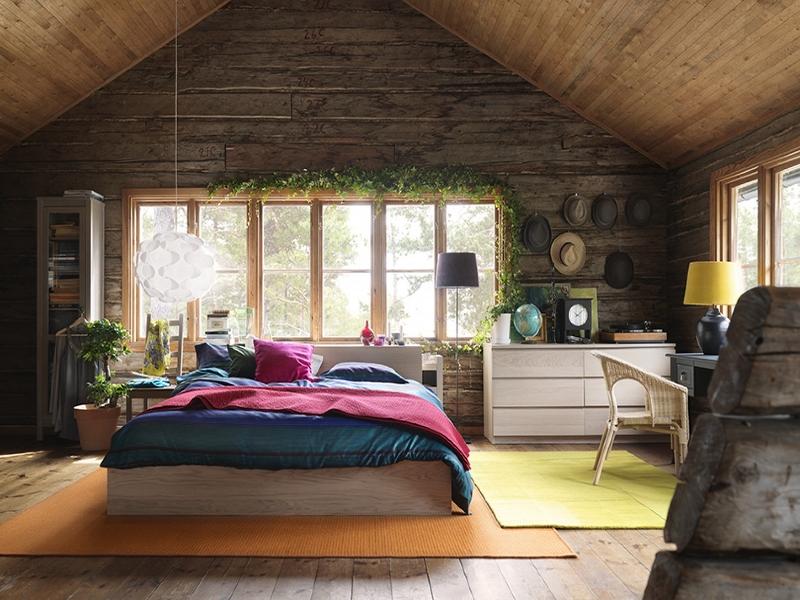 Стильный интерьер деревянного дома