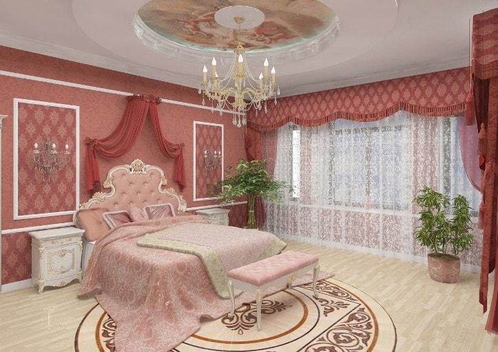 Розово бежевый цвет в интерьере
