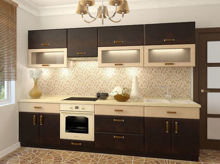 бежевые кухни с коричневым фото
