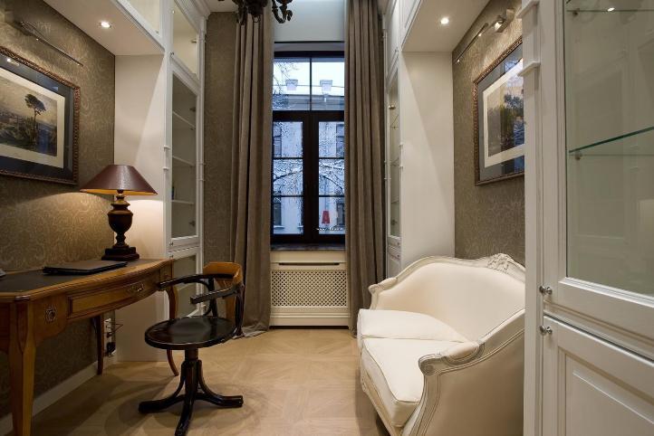 Маленькая гостиная в стиле модерн