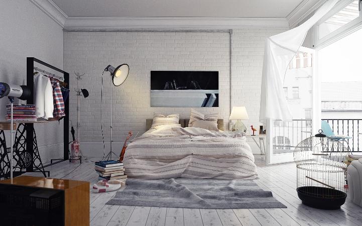 Интерьер спальни в стиле лофт: история возникновения, основные особенности, идеи