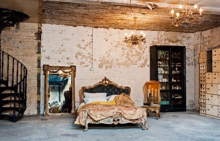 Спальня в стиле прованс под старину