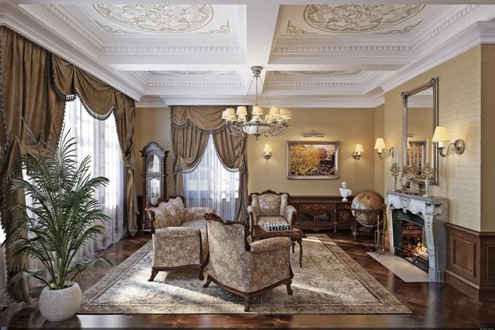 Классика в интерьере гостиной