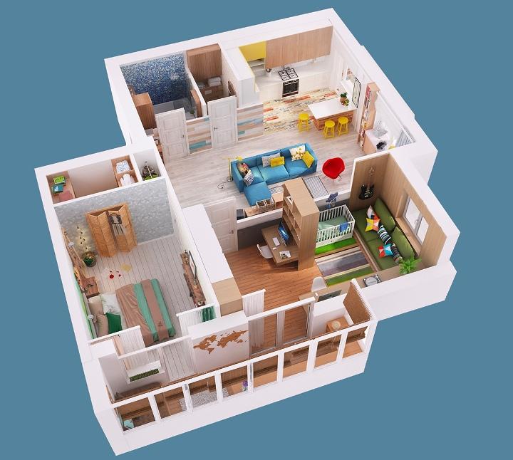 Планировка дома 80 кв. м.