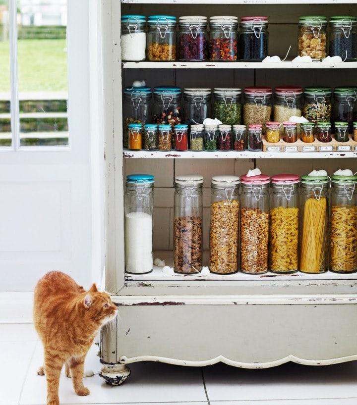 Хранение сыпучих продуктов на кухне