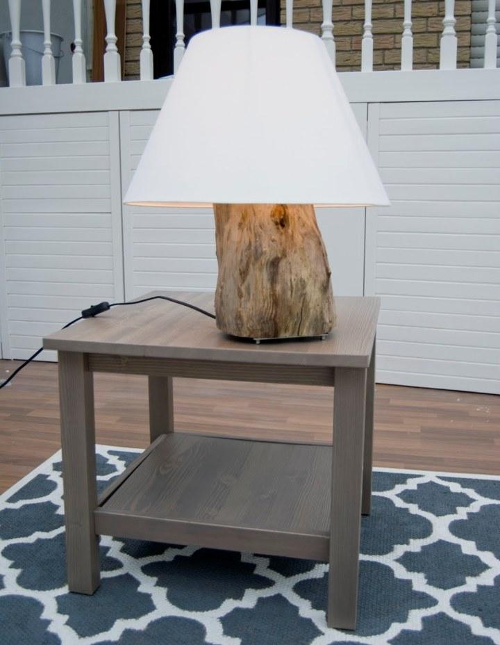 Настольная лампа из пенька в эко-стиле.