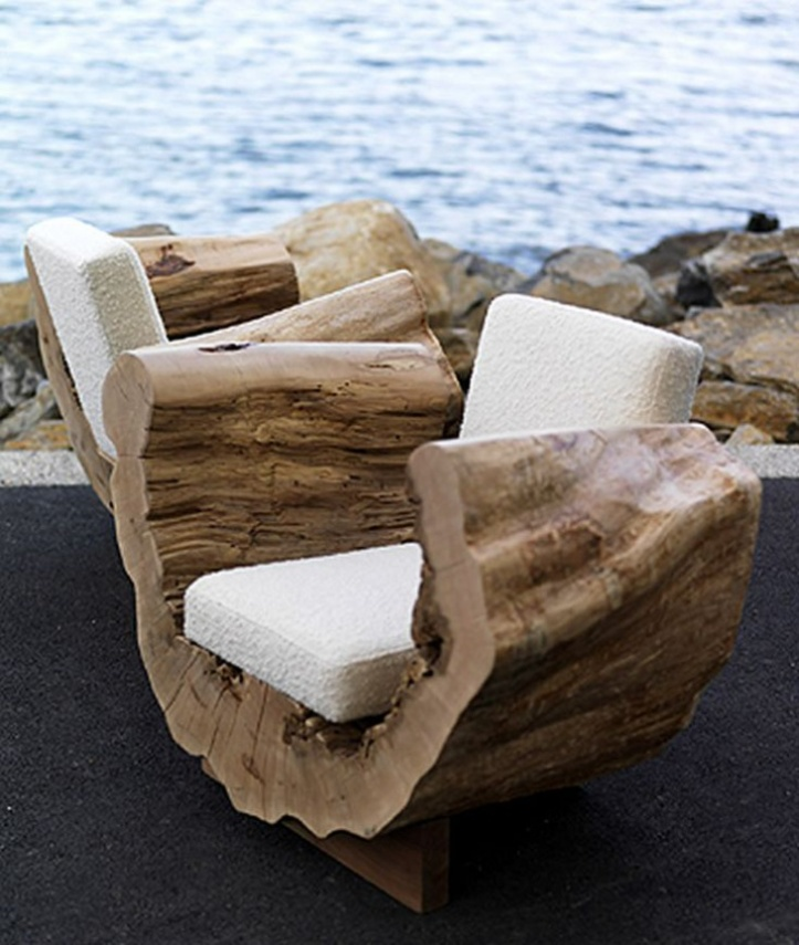 Кресла из бревна