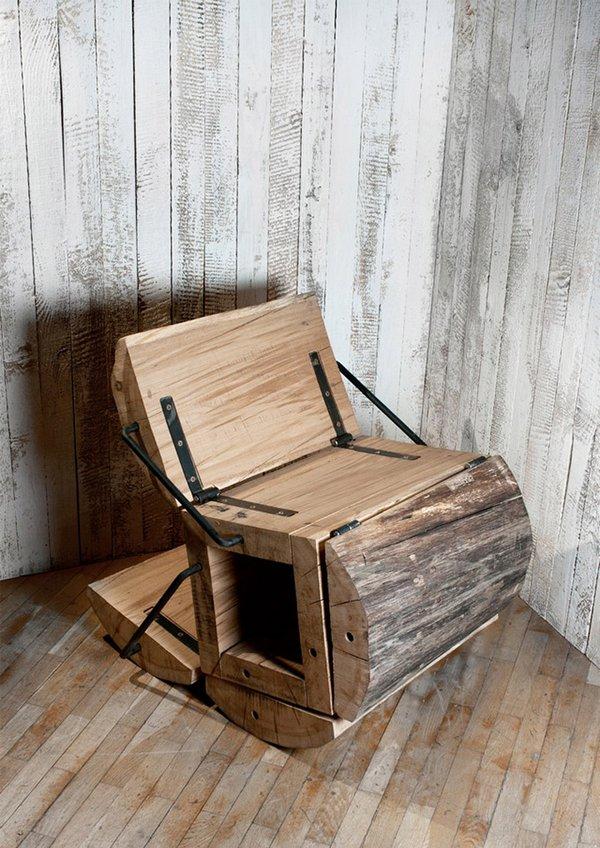 Мебель из пенька: кресло