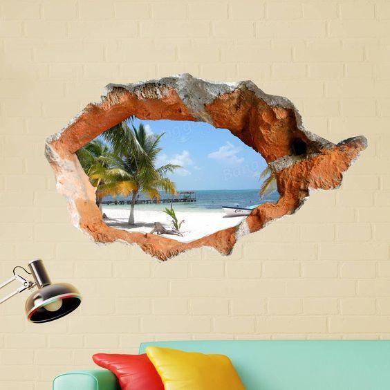 Интерьерная наклейка с видом на пляж