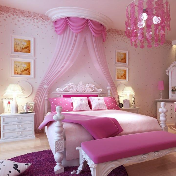 Проект спальни (розово-белый)
