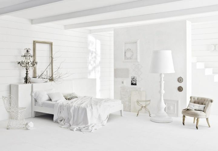 Чисто белая спальня