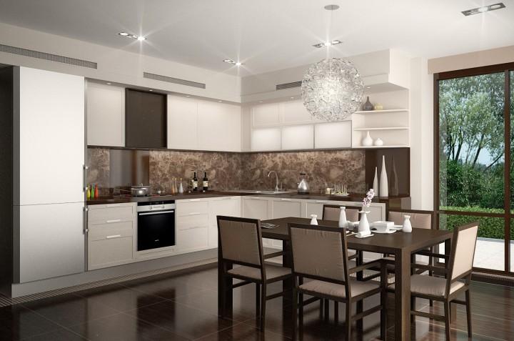 Graue Küche Interieur Foto