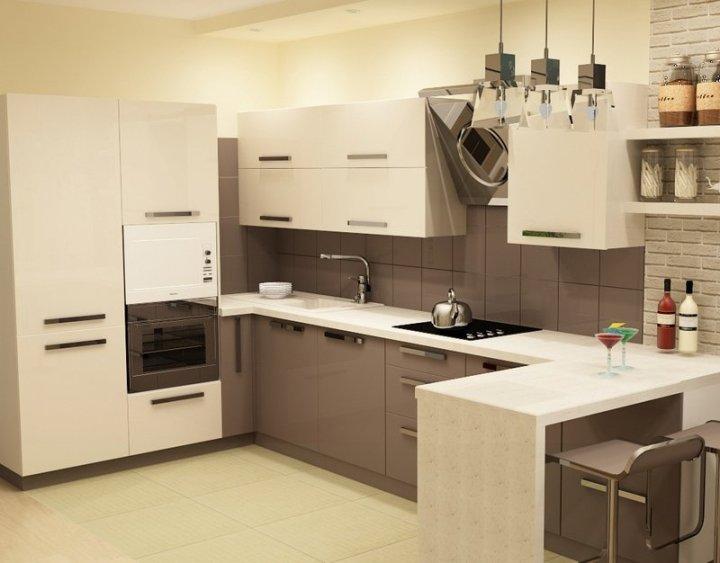 Теплые цвета в кухне