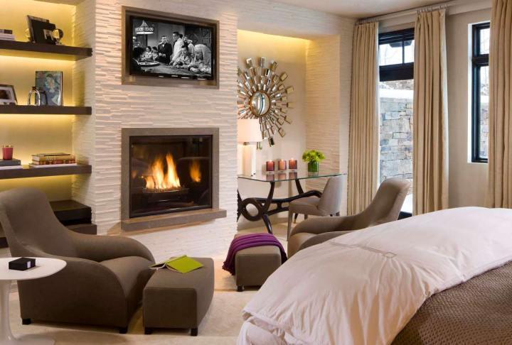 Камин в спальне: чтобы всегда было тепло и уютно