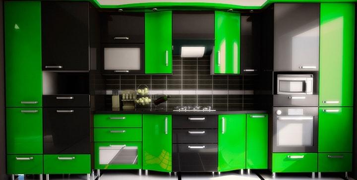 Фото дизайн салатовый и чёрный