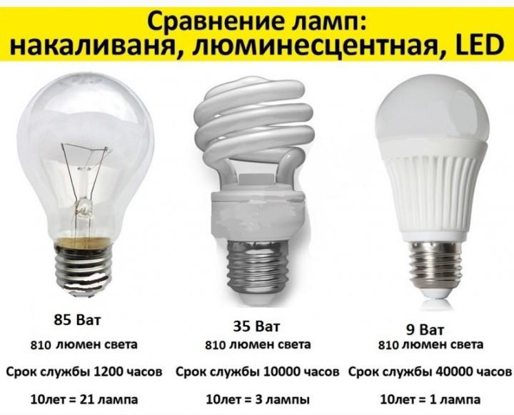 Сравниваем лампочки